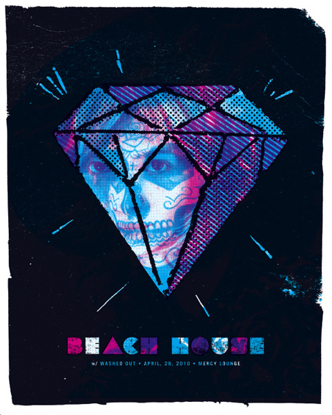 GigPosters.com - Beach House - Washed Out #screen #gig #print #poster