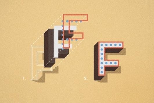 Gimme Bar   Frontage by Juri Zaech - Desktop Font, WebFont and Mobile Font - YouWorkForThem #isometric #retro #typography