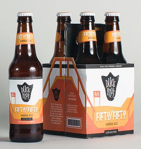 Duck Foot Bottles #packaging #beer #label #bottle
