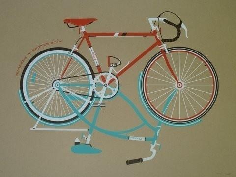 Screens 'N' Spokes DKNG 2010 by screensnspokes on Etsy #print #bicycle