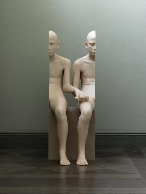 Imaginary Foundation #optical #sculpture #illusion #twins #half #epic