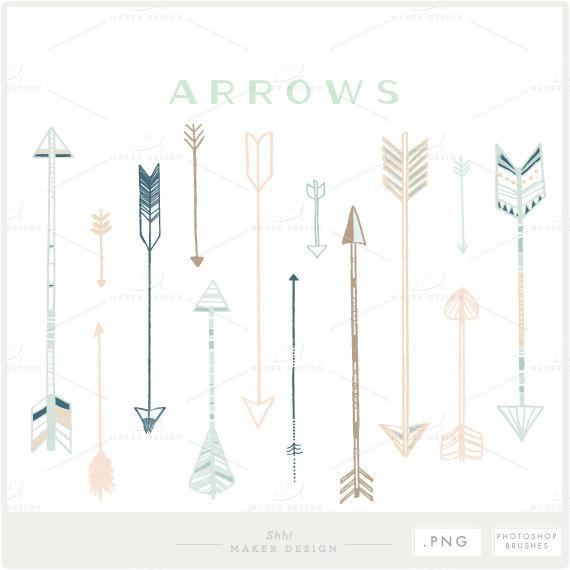 Arrow Clip Art PNG Files Photoshop Brushes Digital