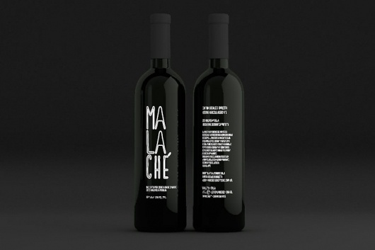 Malache' « SPACE22 — design. #packaging #wine #bottle