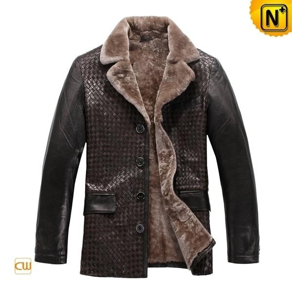 Genuine Sheepskin Coat CW819177 - cwmalls.com #sheepskin #coat