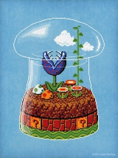 Toadstool Terrarium | Flickr - Photo Sharing! #illustration #terrarium #pixel
