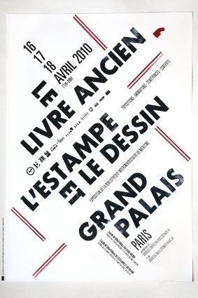 Salon du livre ancien de Paris : Salon 2010 #affiche #rare #grand #book #livre #poster #type #palais #widmer #ancien #jean
