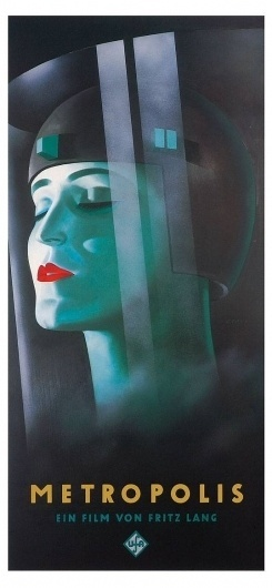 Metropolis Poster, Metropolis (1927), Classic Vintage Movie Poster #film #metropolis #art #deco #poster