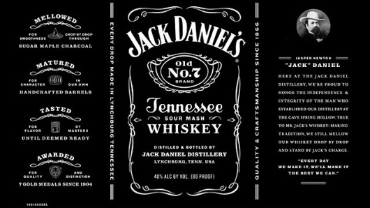 Jack Daniel's Goes Minimal, Pares Down Wordy Label - DesignTAXI.com #packaging