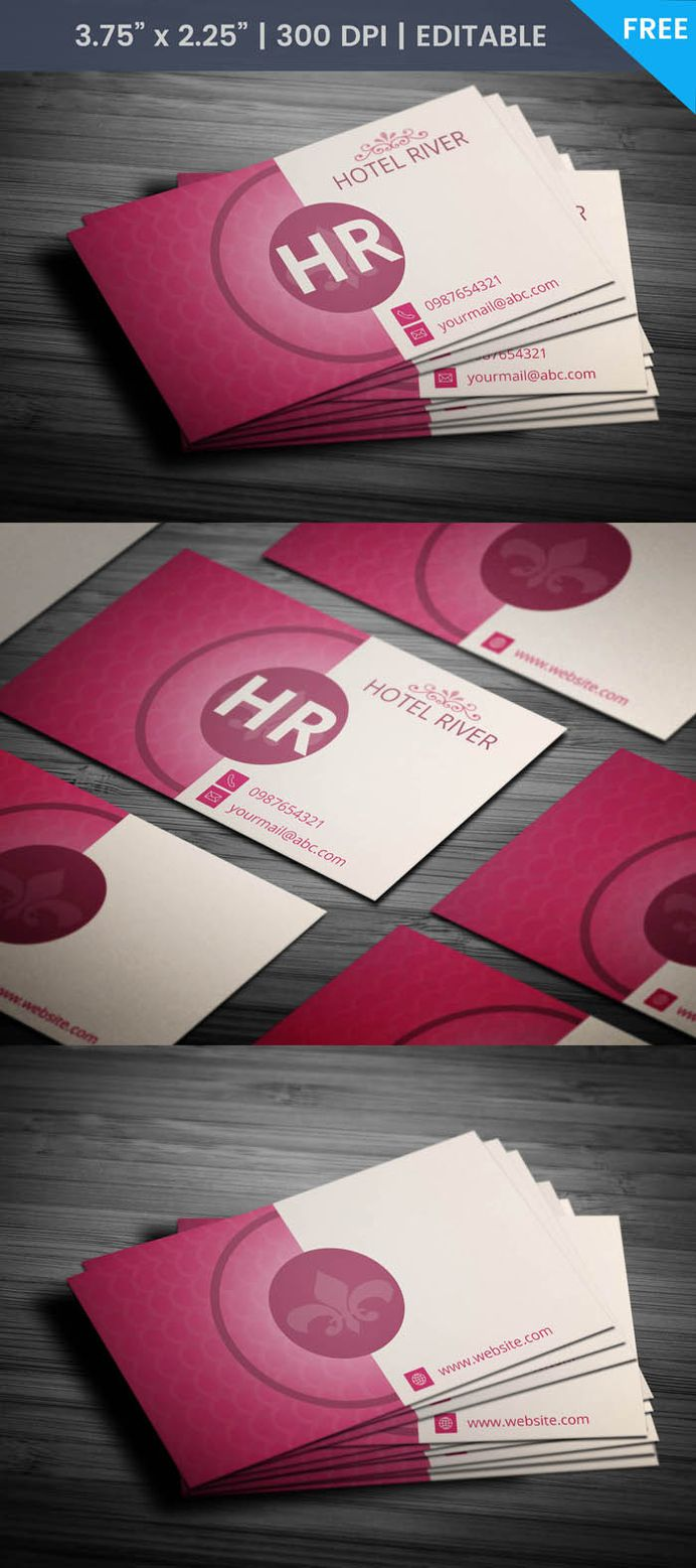 Free Hotel Business Card Template