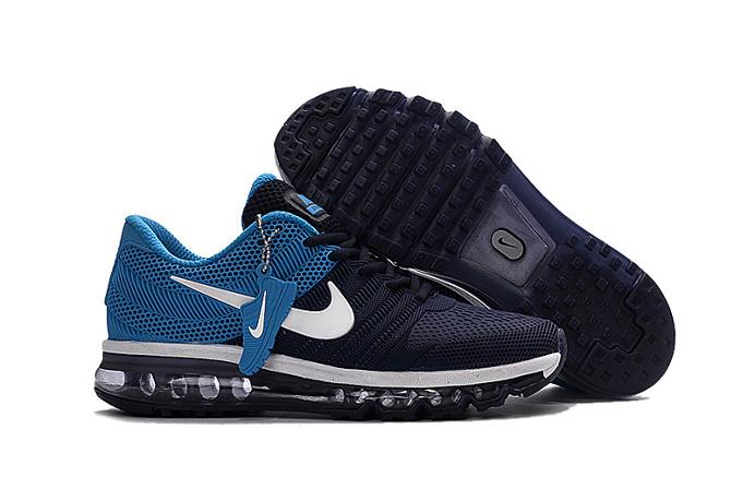 Nike all palm nano drop plastic technology Men's Air Max 2017 Sports Shoes blue black
