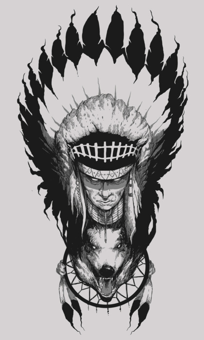 X__X • 死 者 の 顔 • #chief #american #indian