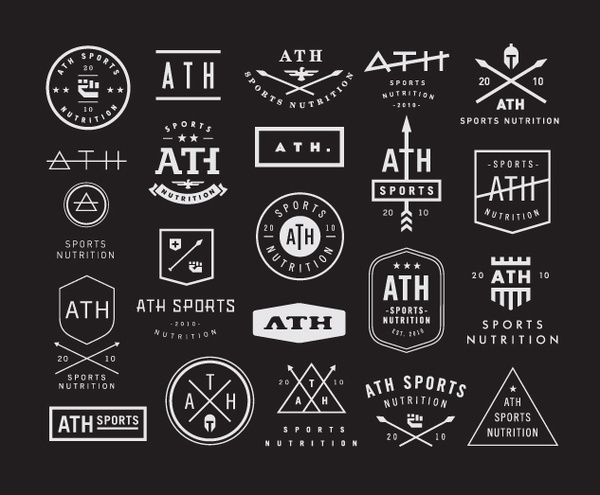 Ath sports nutrition concepts #logos #vintage
