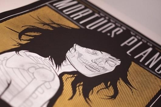 Vivos Voco Mortuos Plango « RONLEWHORN #skeleton #girl #nude #print #design #screen #illustration #poster