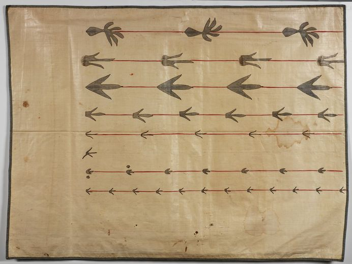 """Orra White Hitchcock's """"Seven Lines of Fossil Footprints"""" (1828–1840)."""