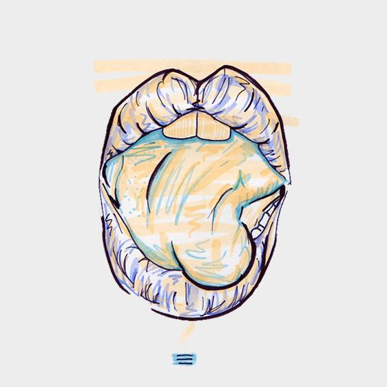 #20 / twisted / 120414 by Chiamaka Ojechi #illustration #pastel #lips #markers #minimal