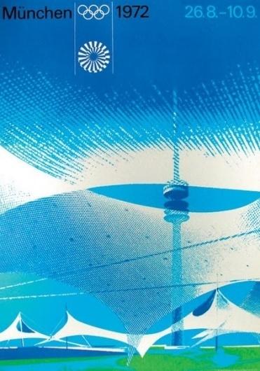 1972 Olympic flyer by Otl Aicher