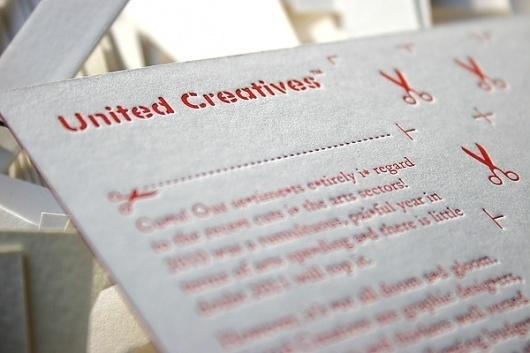 CU*TS Letterpress Postcard on the Behance Network #branding #letterpress #cuts #postcard #typography