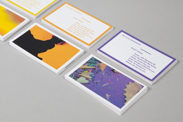 Felicia Aurora Eriksson | FormFiftyFive – Design inspiration from around the world #card #business #stationery