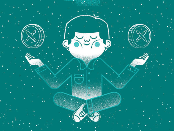 Alliteration Inspiration: Knowledge & Knives / on Design Work Life #character #illustration #graphic