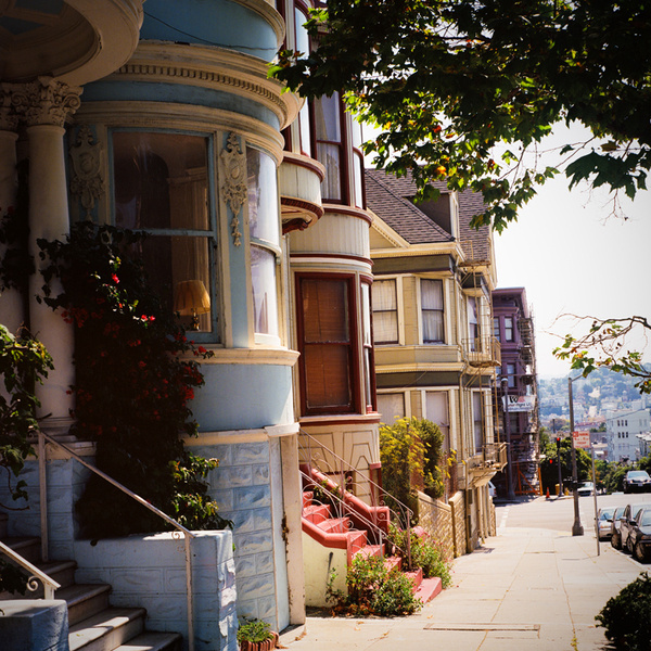 """""""Red Stairs""""San Francisco #tumblr #red #house #photographie #picture #color #stairs #san #landscape #colorful #californie #francisco #california"""