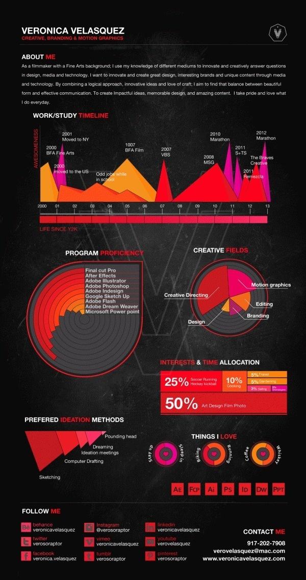 Professional Resume Template Word%0A CV Infographic on Behance  creative  curriculum  infographics  veronica  cv   velasquez