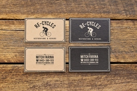Michael Longton #business #card #design #graphic #bike