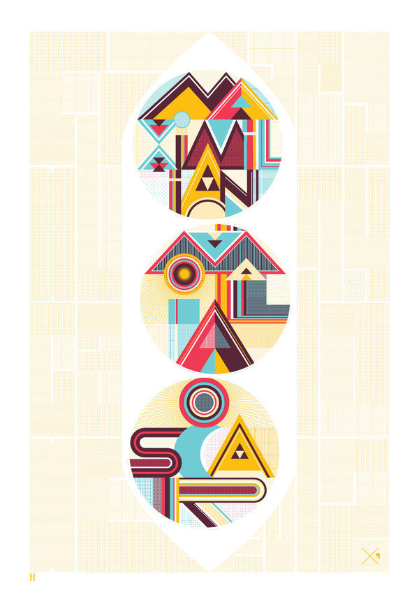Three peas in a pod typographic large format poster #typographic #poster