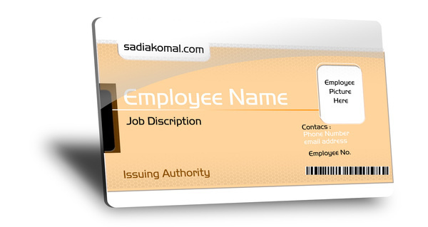 Fully Customizable Employee ID Card With Free PSD File Job Business Psd