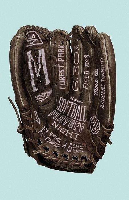 Softball Playoff Night #design #graphic #typography