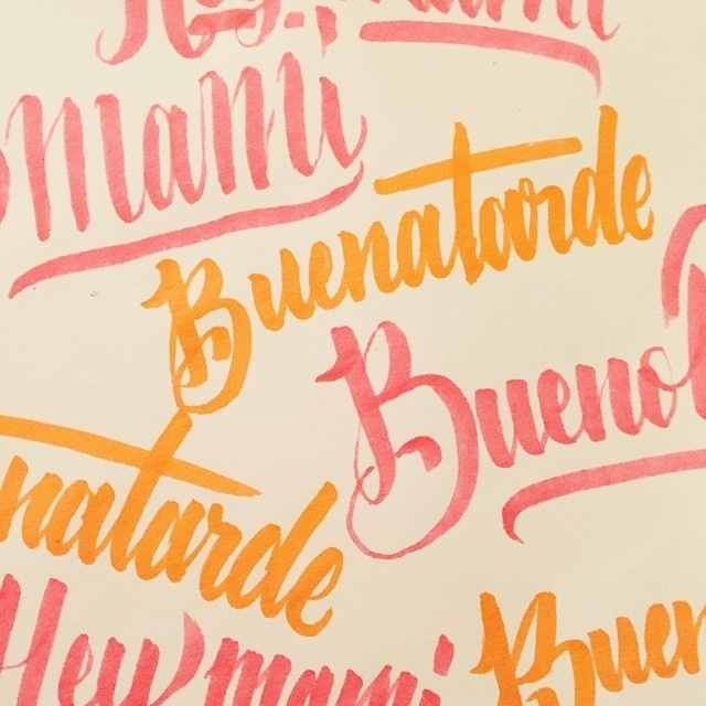 Tumblr #lettering #nicecolors #handlettering #buenatarde #buenas #spanish #type