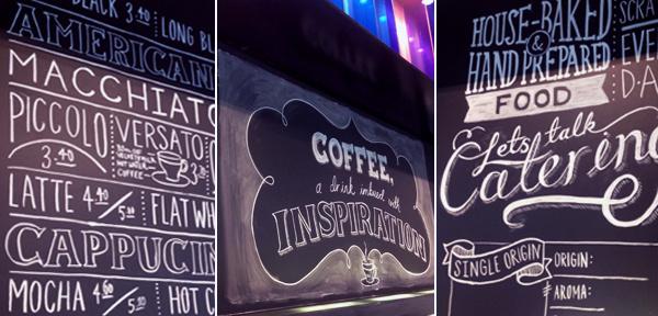 Chalkboard for Mojo Coffee. #rendered #amazing #white #inspiraion #black #chalk #chalkboard #coffee #type #hand #typography