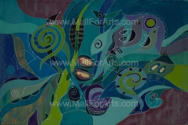 Deep silk art #art #painting #silk
