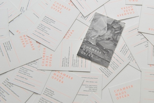 Sweet Creative   Recent-Work   Chamber Made Opera #white #business #card #color #orange #black #and #2