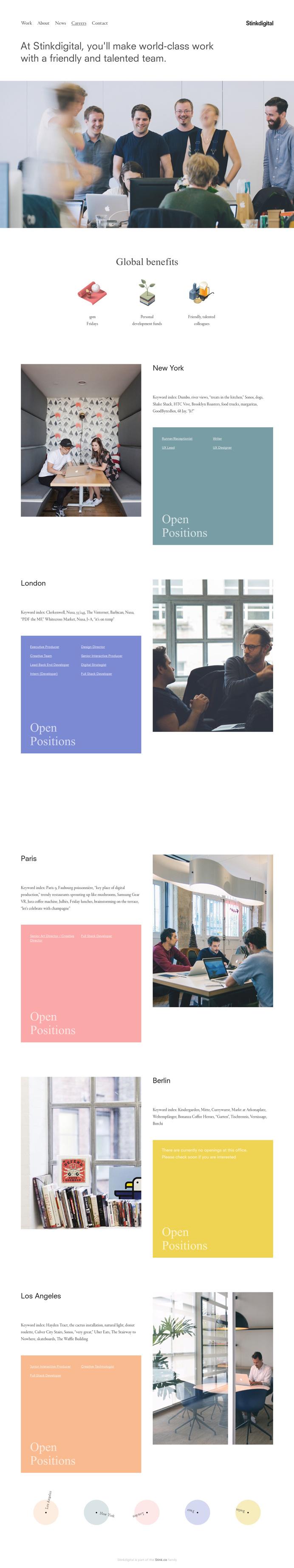 Stinkdigital - Careers Page