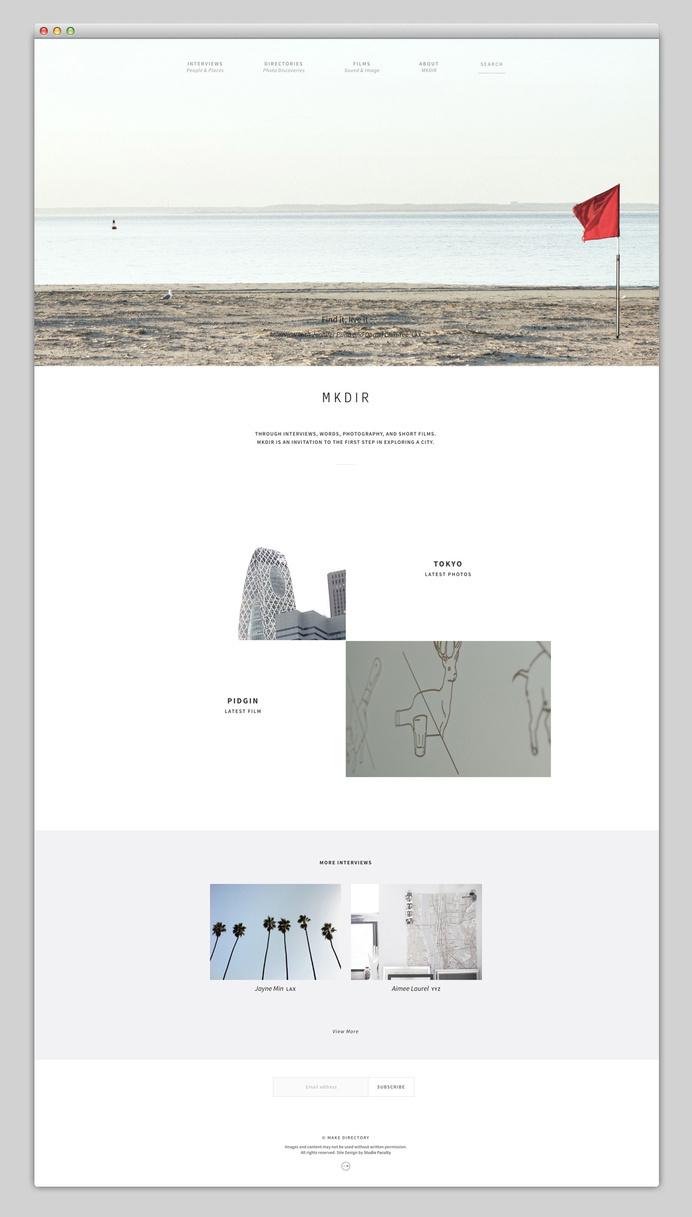 Make Directory #minimalism #layout #layer #web