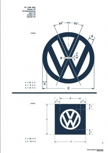Recreated-Vintage VW Logo Specification Poster For Download | your creative logo designer #logo #identity #guidelines
