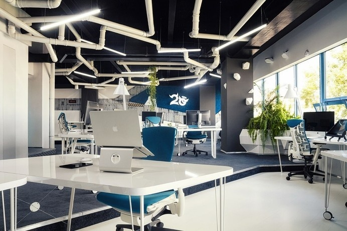 Quirky Spaceship as Game Studio Office by Ezzo Design #office #architecture