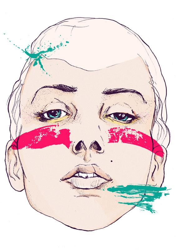 MAGDA ŁUPIŃSKA: POSTERS #paint #illustration #portrait #face