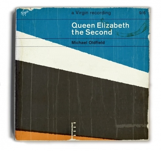 Vintage Cover: Mike Oldfield: QE2 #mike #pelican #book #record #cover #oldfield #qe2