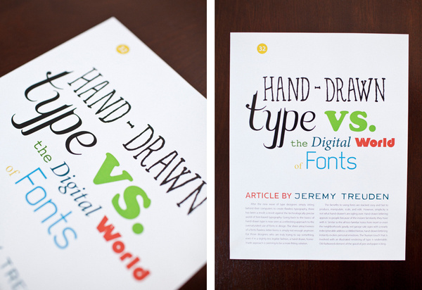 Hand-Drawn Type Article Image #article #headline #drawn #type #hand #editorial #typography