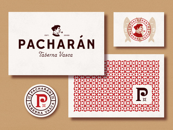 Pacharán Branding #lettering #business #branding #card #tavern #bar #coaster