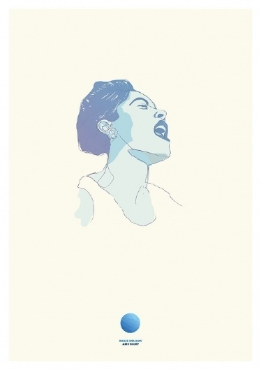Billie Holiday Illustration #jazz #illustration #holiday #poster #billie