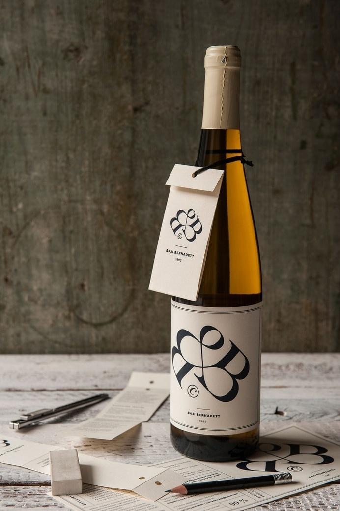 Bernadett Bajis CV wine label by Miklós Kiss #logo #label #wine