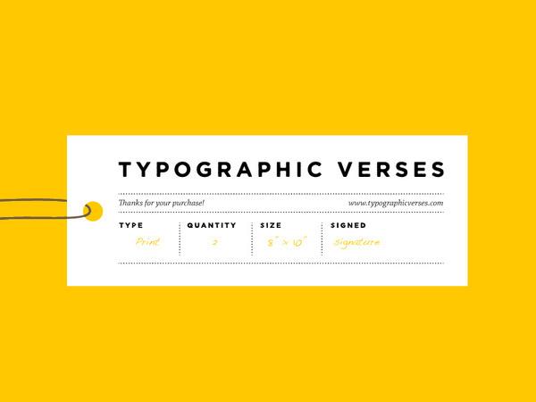 Typographic Verses #typography #tag