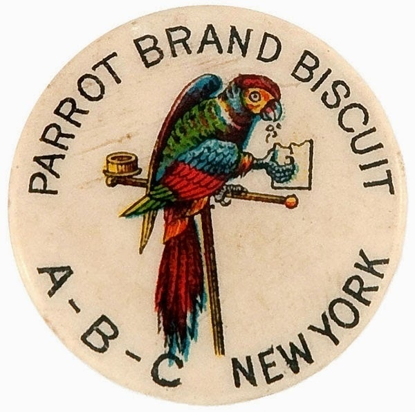 Letterology: The First Wearable Advertising #advertising #pin #illustration #vintage #circle
