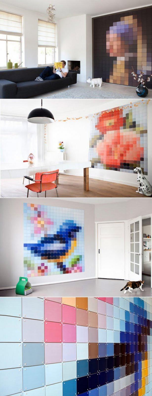 Pixeles fal - Van Gogh-ot vagy esetleg absztrakt képet parancsolsz? - Inspirációk Magazin