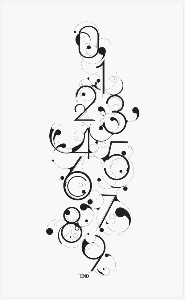 Bloob Numbers #font #nouveau #black #art #numbers #decorative #rounded #typography