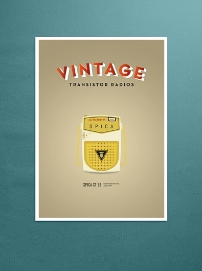VINTAGE TRANSISTOR RADIOS on the Behance Network #radio #vintage #poster