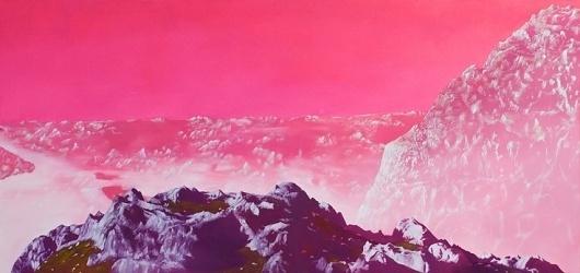Sci-Fi-O-Rama / Science Fiction / Fantasy / Art / Design / Illustration #pink #fi #sci #landscape #mountains