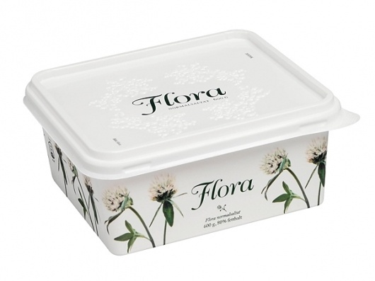 Flora Margarine on the Behance Network #script #flora #branding #packaging #identity #flower